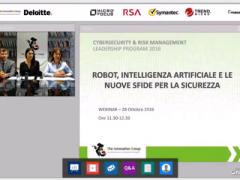 Online il Webinar su Robot, A.I. e Sicurezza