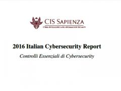 Pubblicato il Cybersecurity Report 2016 di CIS Sapienza