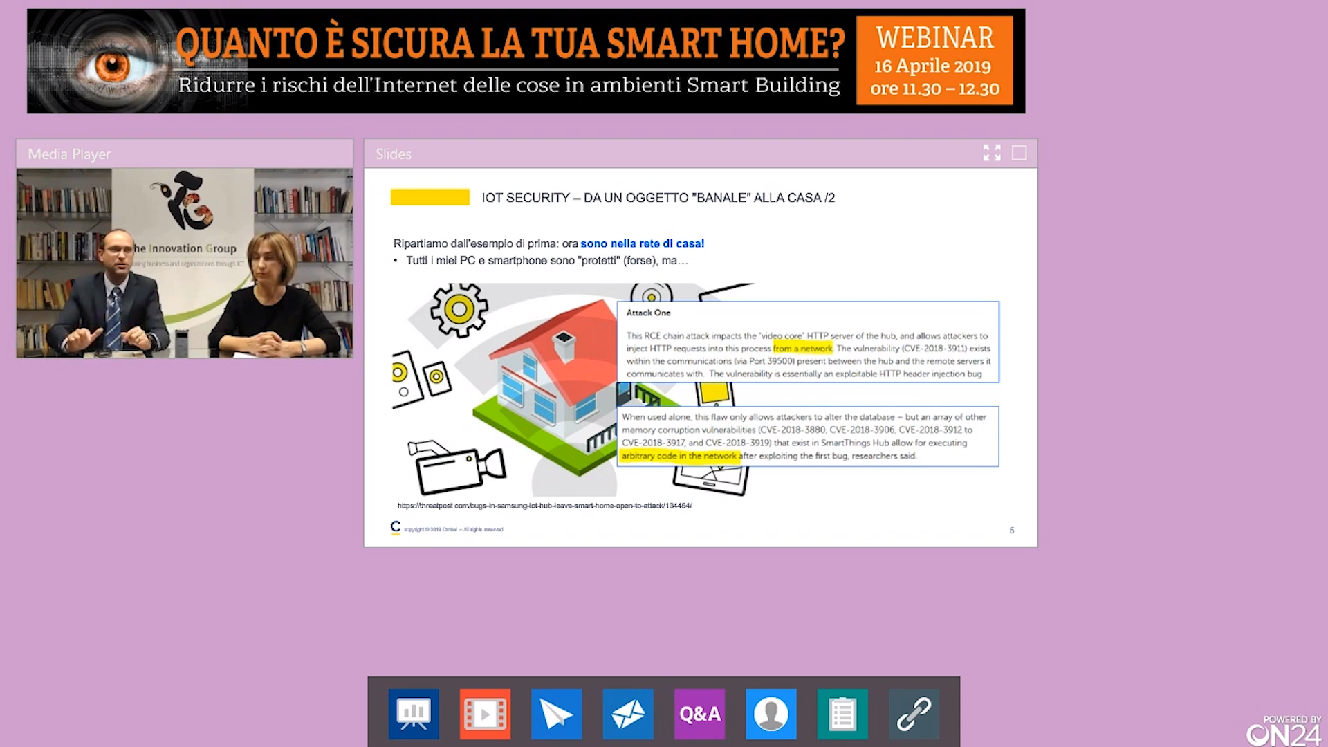 Online il webinar Smart Home Security