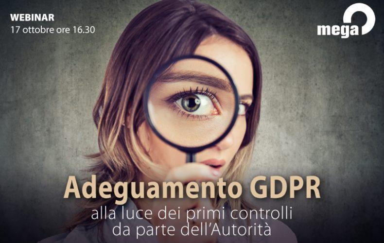 Rischio sanzioni GDPR: un Webinar per testare la compliance