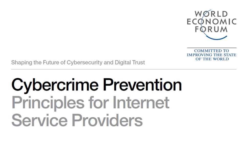 Dal WEF 4  Principi per l'Internet sicura