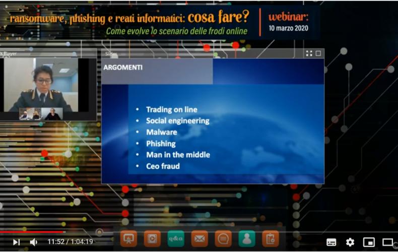 Webinar Online: Ransomware, Phishing e Frodi informatiche