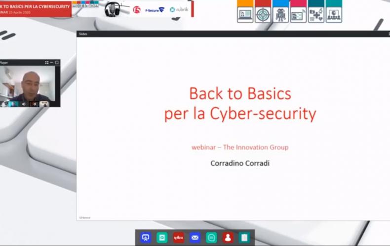 Webinar online: Back to Basics per la cybersecurity