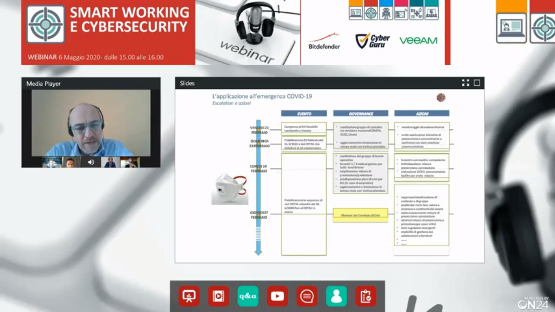 Online il Webinar sulla Cybersecurity per lo Smart Working