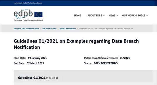 Data breach e Ransomware, le Linee Guida dell'EDPB